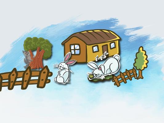 قصة الأرنب الكسلان