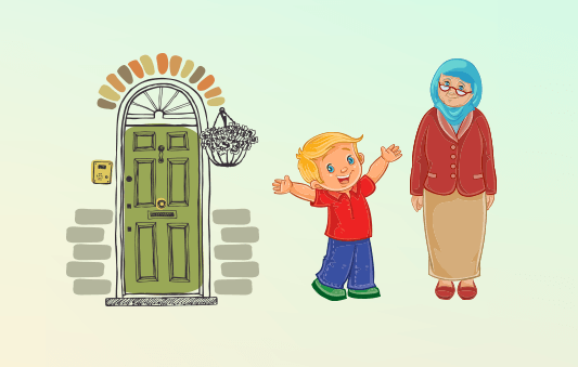 قصة عن مساعدة كبار السن للاطفال :: قصة أنتِ رائعة حقا ياجدتي