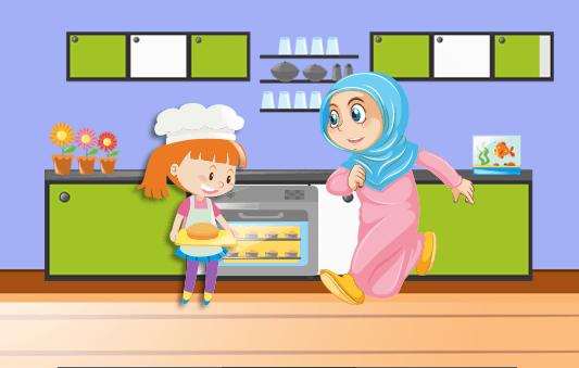 قصة عن طاعة الأم قصة مَريمُ تساعد أمها