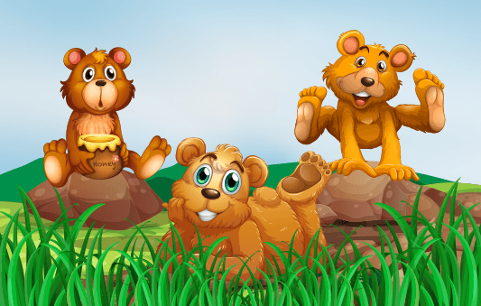 قصص عن اداب الاستئذان للاطفال :: قصة الدببة الثلاثة