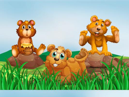 قصة الدببة الثلاثة :: قصص عن اداب الاستئذان للاطفال