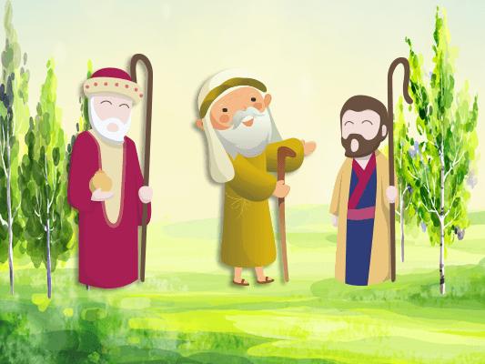 قصة سر الشيوخ الثلاثة :: قصص اطفال مترجمة بالصور