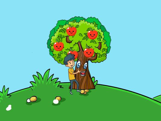 قصة شجرة التفاح قصة عن بر الوالدين للاطفال