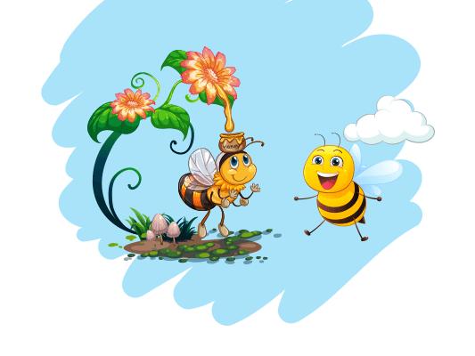 قصة الزهور والعسل