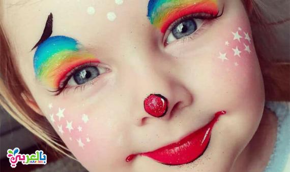 09971a0243e0b الرسم على الوجه للاطفال    رسومات سهلة للحفلات    طريقة تحضير الوان ...