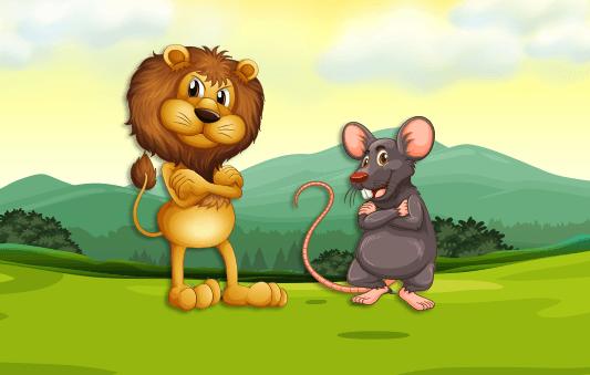 قصة الأسد والفأر مصورة للاطفال