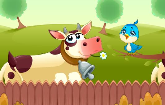 قصة العصفور و البقرة قصص حيوانات للاطفال