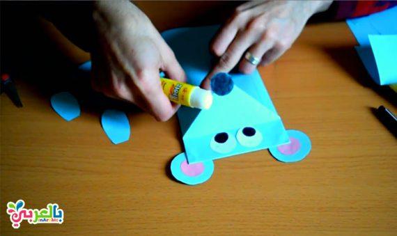 صنع فأر من الورق