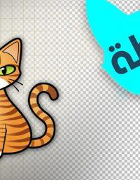 رسم قطة