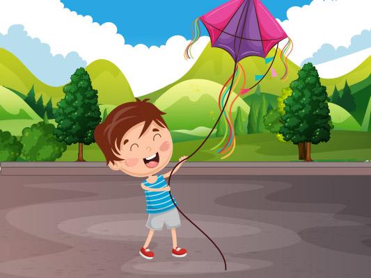 قصة طائرتي الورقية :: قصص الصيف مصورة للاطفال
