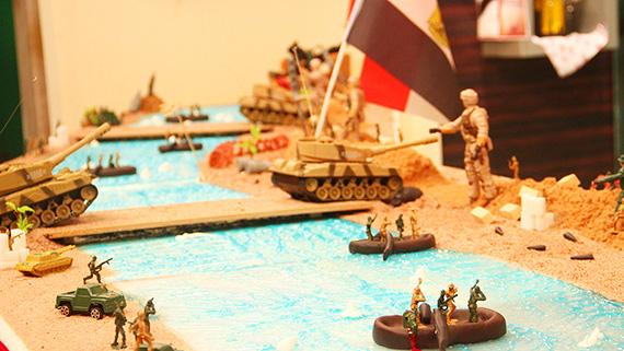 عبور الجنود خط بارليف