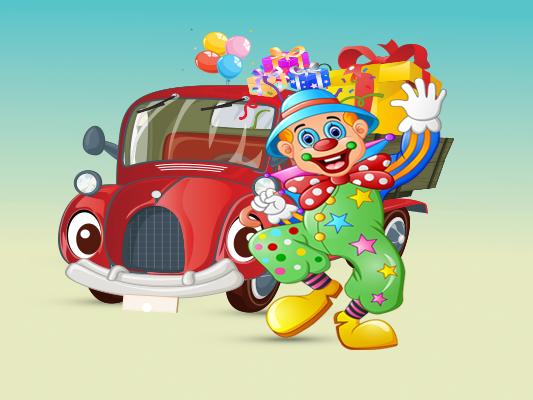 قصص اطفال في العيد :: قصة سيارة المفاجآت