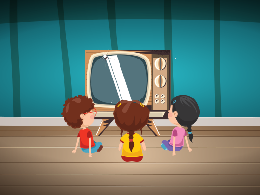 قصة يوم تعطل التلفاز تحفيزية للاطفال