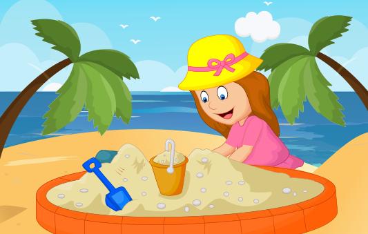 رمل الشاطيء -قصص الصيف للاطفال بالصور - حكايات بالعربي