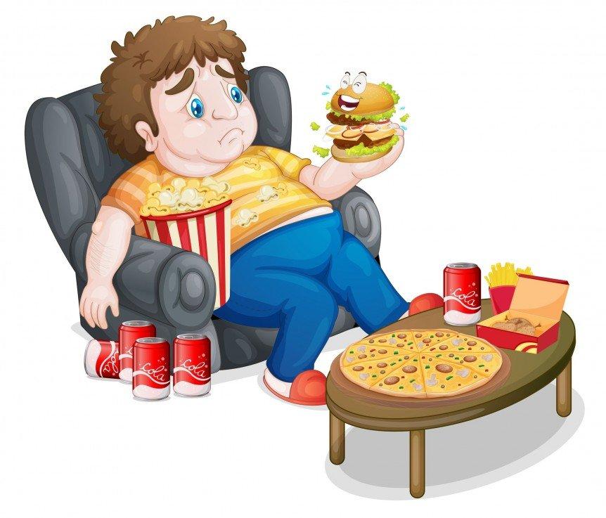 الغذاء الغير صحي وسمنة الاطفال