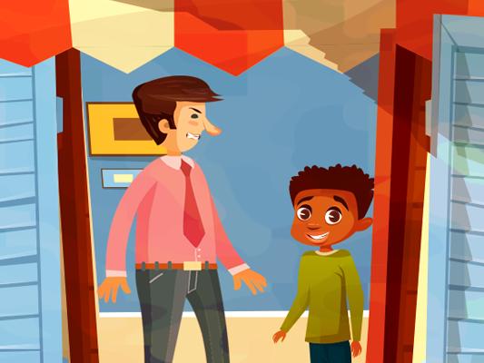 قصص تربوية مصورة للاطفال :: قصة أنف الأستاذ