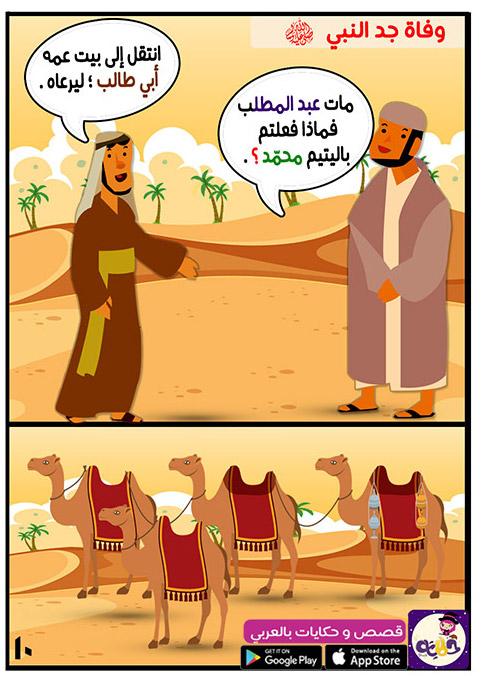 وفاة جد النبي صلى الله عليه وسلم وانتقاله لبيت عمه أبو طالب