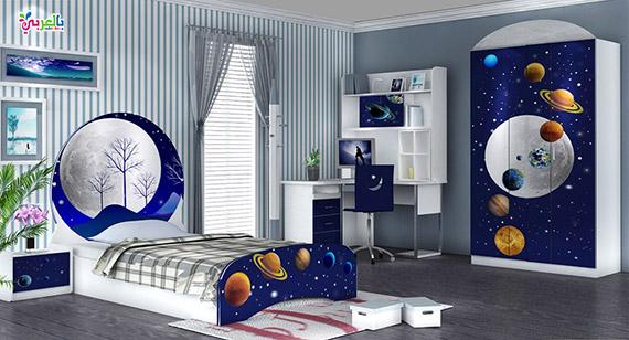 غرفة نوم اطفال فضاء