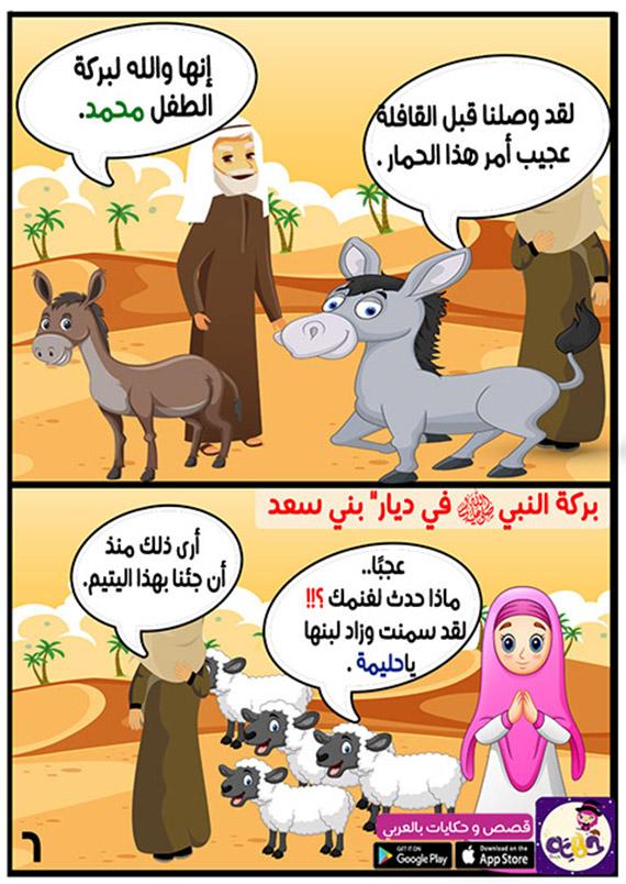 بركة محمد صلى الله عليه وسلم في ديار بني سعد