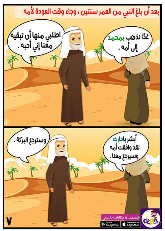 موافقة الأم على عودة النبي مع حليمة السعدية