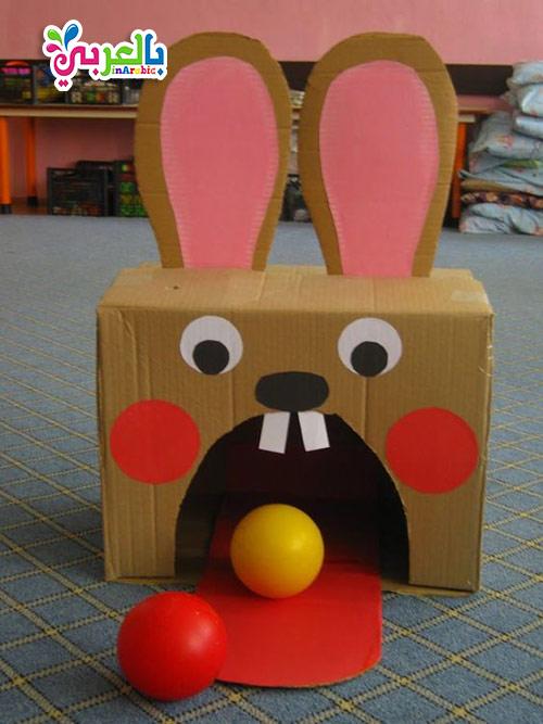 صنع العاب من الكرتون للاطفال