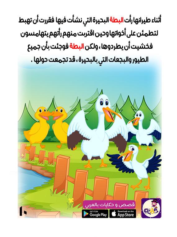 فصة البطة القبيحة - قصص عربية