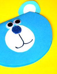 Bear Craft for kids | فكرة بطاقة دب من الورق - افكار هدايا للاطفال