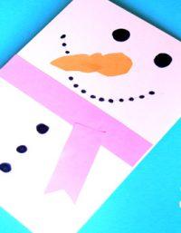 snowman card craft | كارت هدية رجل الثلج