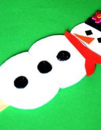 Easy Winter Craft For Kids | فكرة عمل رجل الثلج بسيطة