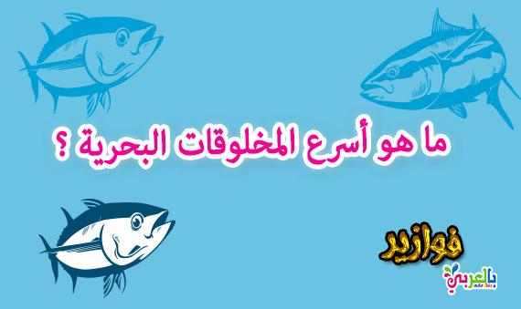 ما هو أسرع المخلوقات البحرية ؟