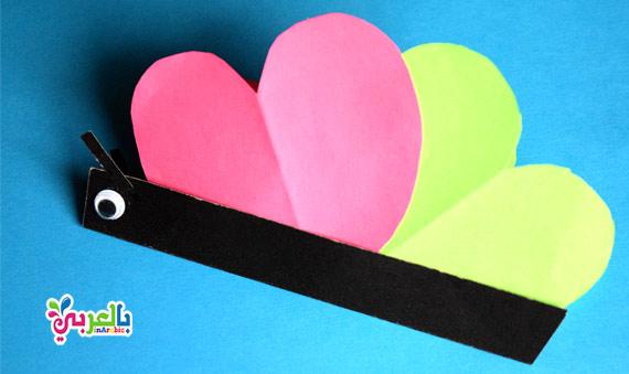صنع فراشة من الورق مطوية سهلة -Butterfly paper craft for kids -spring crafts