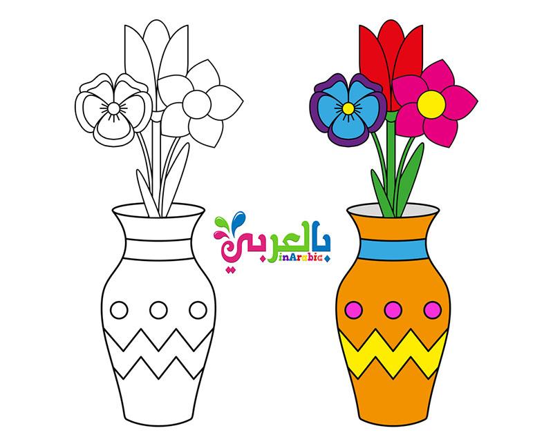 زهور للتلوين