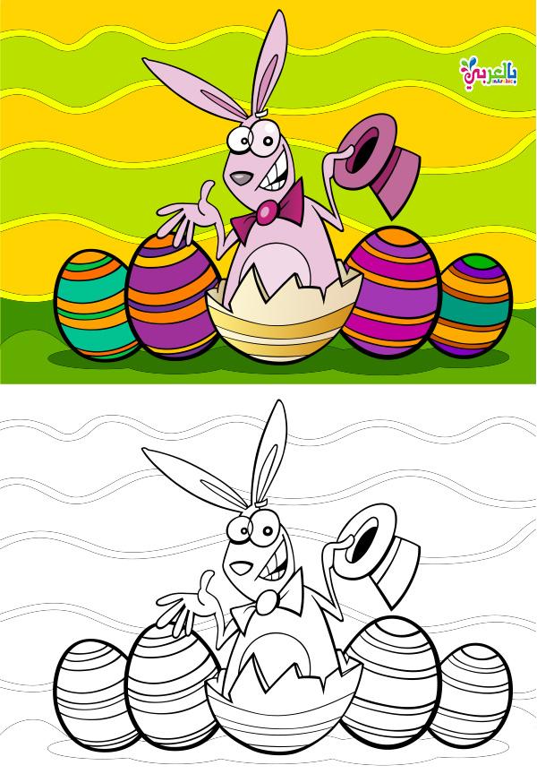 رسومات عن الربيع للاطفال - اوراق عمل للتلوين عن الربيع للاطفال