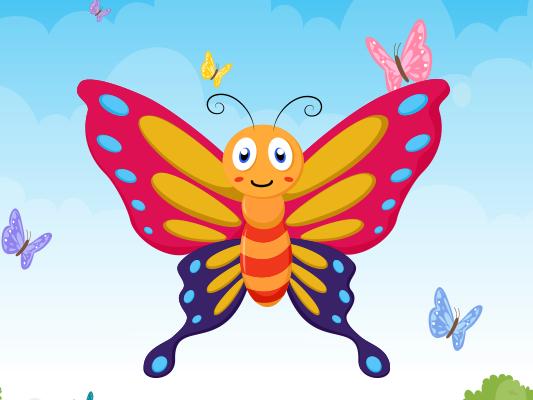 قصة الفراشة الصغيرة :: قصة مصورة عن فصل الربيع للاطفال
