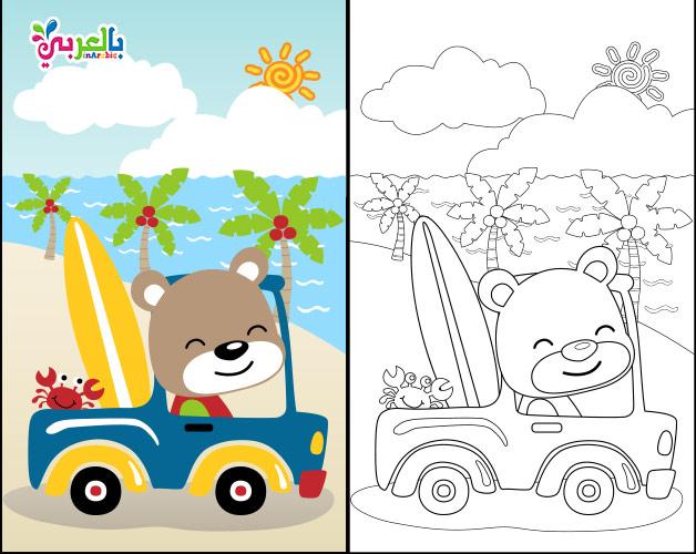 coloring book for kids - اوراق عمل للتلوين عن الربيع للاطفال