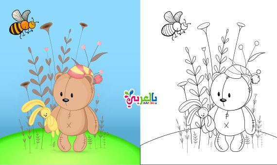 اوراق عمل للتلوين عن فصل الربيع للاطفال