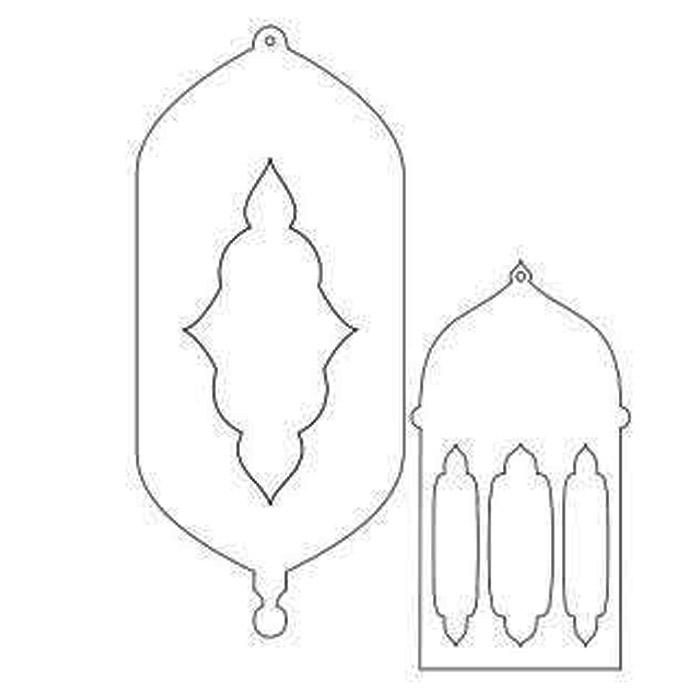 printable lantern - زينة رمضان 2019