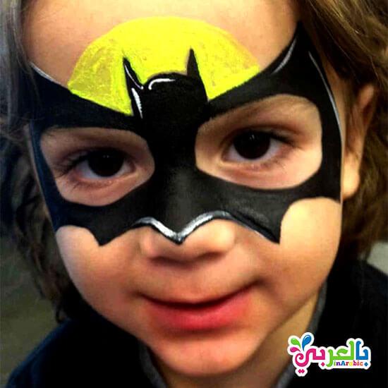 رسم على الوجه بات مان - batman painting