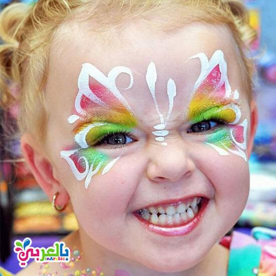 رسومات على وجوه الاطفال فرشات