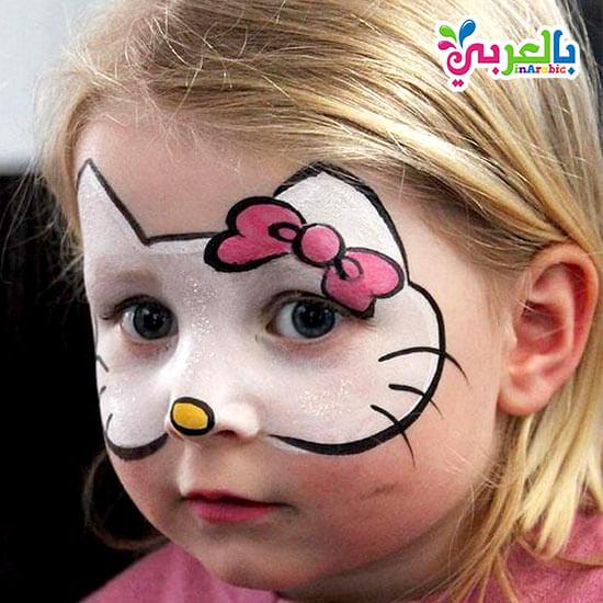 رسم قطة على الوجه للاطفال
