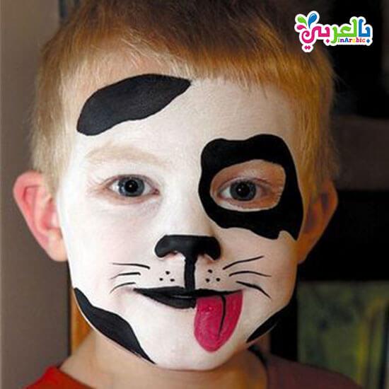 رسومات كلب على الوجه للاطفال