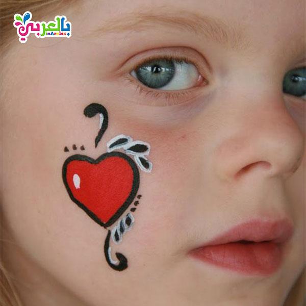 طريقة الرسم على وجوه الاطفال