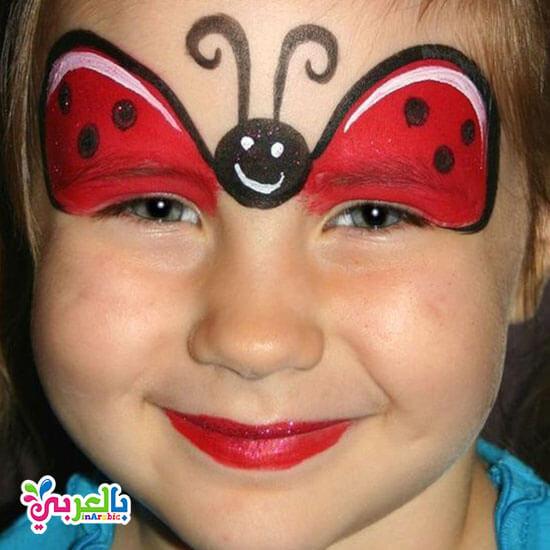 رسم سهل على وجه الاطفال