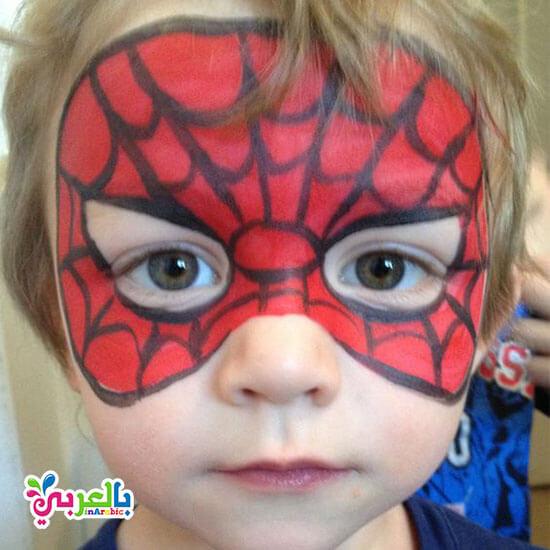 رسم على الوجه سبيدر مان - spider man painting