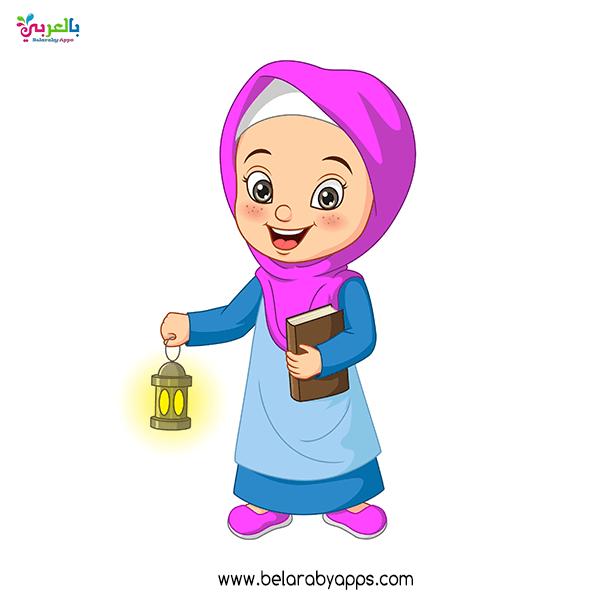 صورجميلة عن رمضان بنات .. رسومات رمضان كرتون