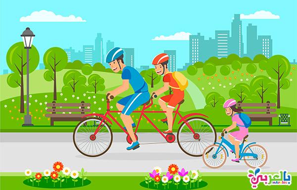 العاب جماعية للاطفال - سباق ركوب الدراجة للأطفال