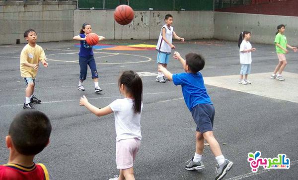 العاب حركية للاطفال - لعبة كرة اليد وكرة السلة