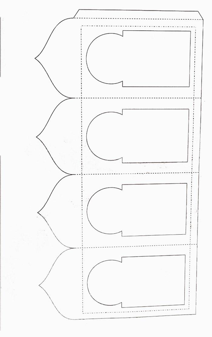 زينة جاهزة للطباعة - DIY Ramadan Paper Lantern pattern