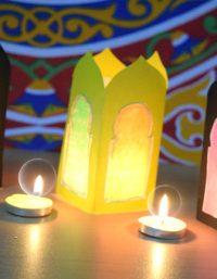 طريقه عمل فانوس مضيء لشهر رمضان - light lantern Ramadan