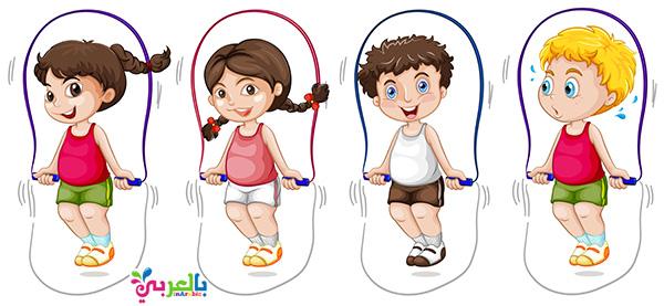مسابقات اطفال في يوم الطفل -لعبةنط الحبل - العاب قفز الحبل